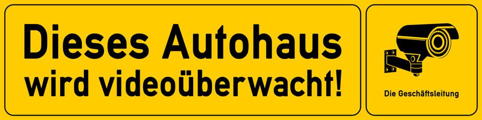 Autohaus - Hinweisschild Videoueberwachung - g529 - vu21