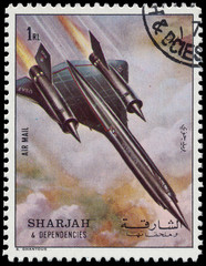SHARJAH AND DEPENDENCIES - CIRCA 1972: stamp printed by Sharjah