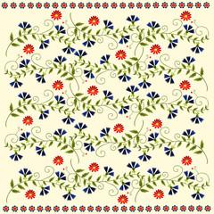 ludowe kwiaty tło