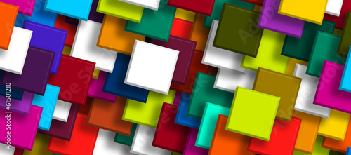 colorful background overlapping Squares