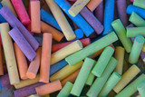 many colorful crayons