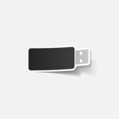 realistic design element: usb
