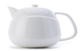 White teapot isolated on white background