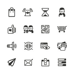 16 content marketing icons