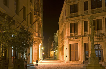 Old town by night, Havana, Cuba
