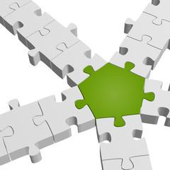 Puzzle Verbindung / Teamwork