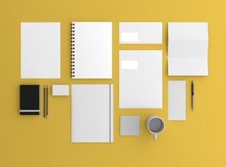Geschäftsausstattung Template oben Hintergrund gelb