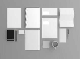 Geschäftsausstattung Template oben Hintergrund grau