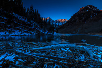 Maroon Bells sunrise, Colorado