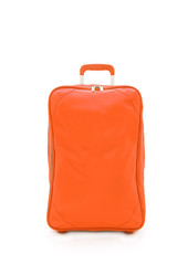 orange travel bag isolated on white