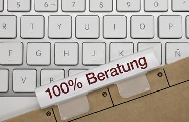 100% Beratung. Tastatur