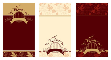 Set of patterns for wine labels