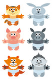 cartoon animal vector set