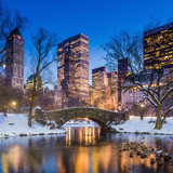 Gapstow bridge in winter, Central Park