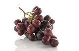 red grapes isolated on white