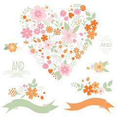 Floral graphic set