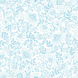 Seamless pattern with decorative flowers.