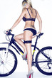 Sexy lady with bicycle