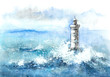 Leinwandbild Motiv lighthouse