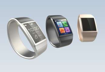 Stylish smart watch with clipping path
