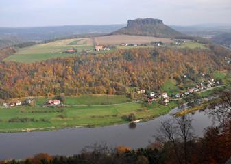 Elbe und Lilienstein