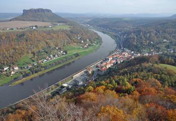 Königstein, Elbe und Lilienstein