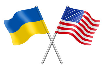 Flags: The United States and Ukraine