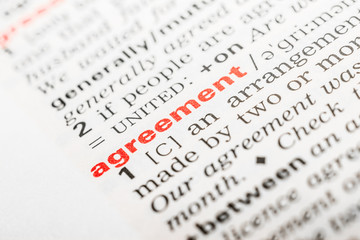 Agreement Word Definition In Dictionary
