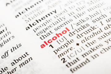 Alcohol Word Definition In Dictionary Close Up