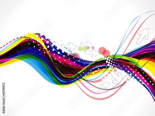 colorful wave background with arrow