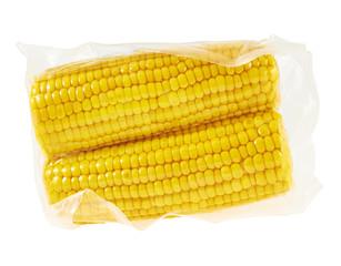 Cornstick corn on the cob in a packaging