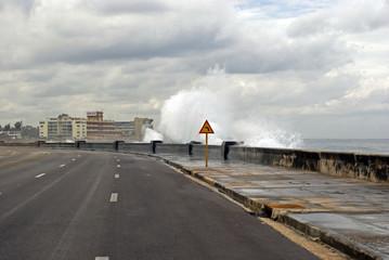 Stormy sea, Havana, Cuba