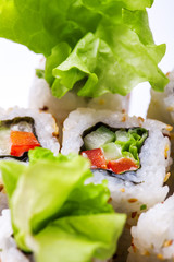 Vertical photo of vegitable roll