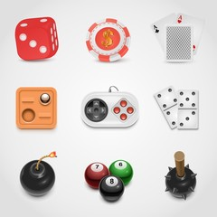 games vector icon set