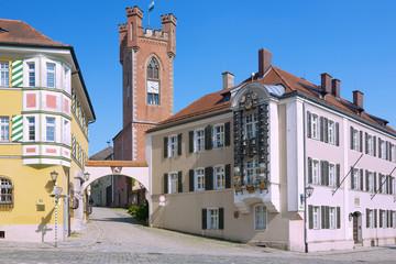 Furth im Wald, Schlossplatz mit Landestormuseum, Glockenspiel