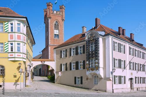 Furth im Wald, Schlossplatz mit Landestormuseum, Glockenspiel - 61509881