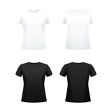T-shirts for women black and white