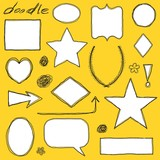 Doodle borders - scribbled scrapbook shapes