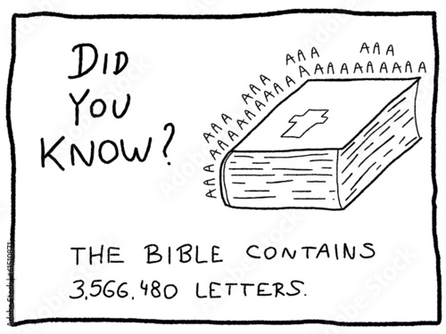 Trivia doodle - religion fact cartoon