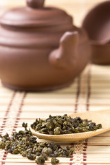Chinese green tea dry