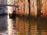 Gondolas and canals in Venice, Italy