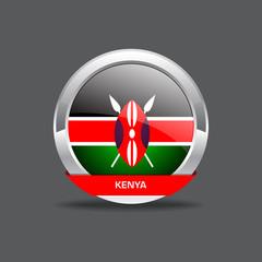Kenya Flag Vector Icon