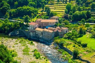 Magnifique village de Provence en Ardèche, France