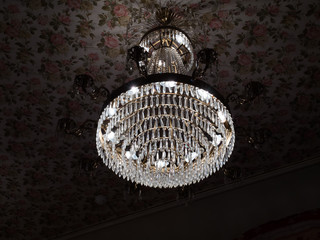 Crystals chandelier with light