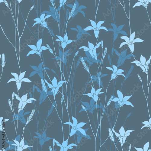 Bellflower seamless background