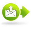 message envoyé sur symbole web vert