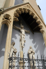 Crucifixion, Saint Francis Church. Zagreb, Croatia