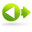 retour sur symbole web vert