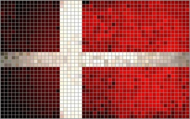 Flag of Denmark, mosaic