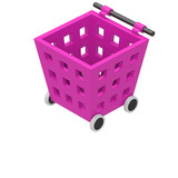 Shopping Cart Icon Isolated on White